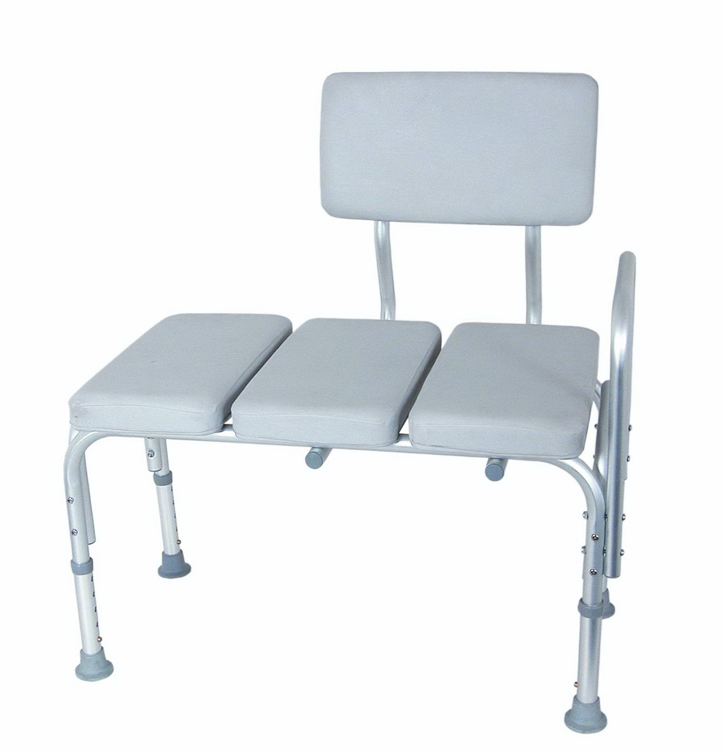 Sliding Transfer Bench With Cut Out Swivel Seat