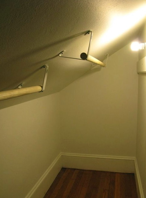 Sloped Ceiling Closet Rod Bracket