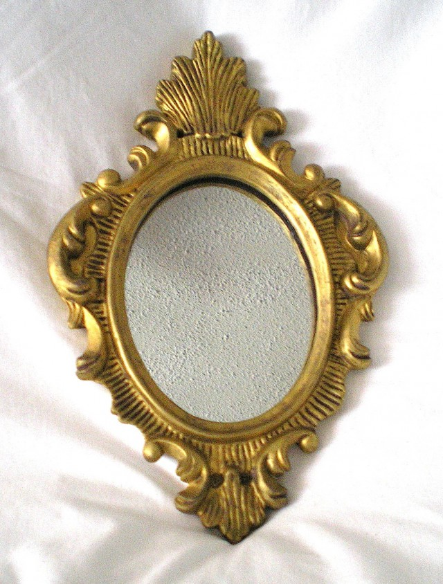 Small Gold Wall Mirror