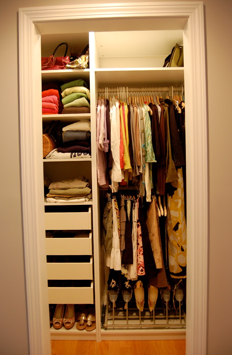storage ideas for small bedroom closets small walk in closet organization ideas home design ideas 20893