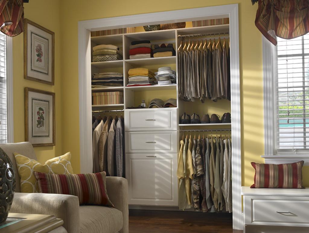 Small walk in closet organizers home design ideas for Small walk in closet solutions