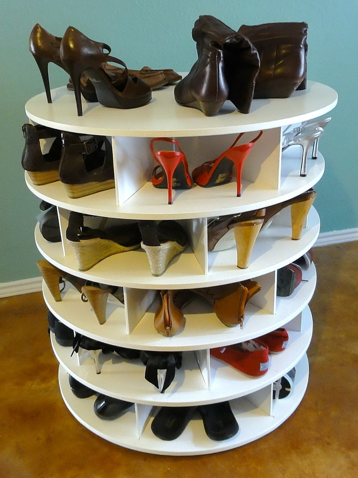 Spinning Closet Shoe Organizer
