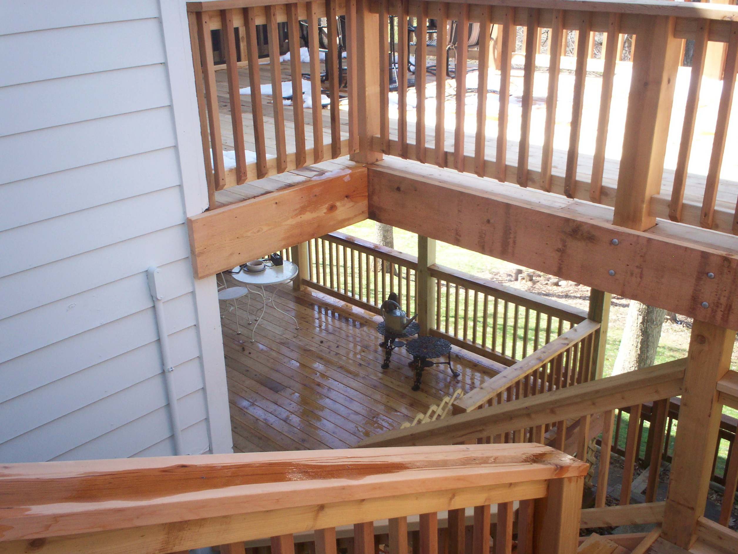Two story deck design ideas home design ideas for Two story deck design pictures