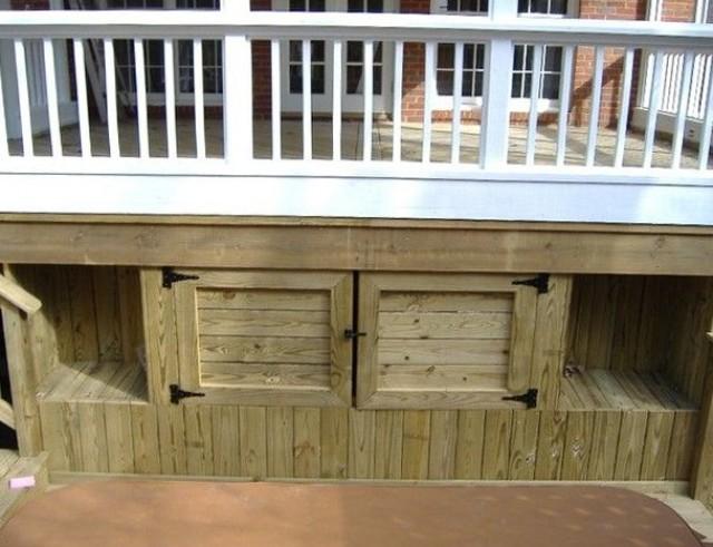 Under Deck Storage Plans & Deck Storage Box Plans | Home Design Ideas
