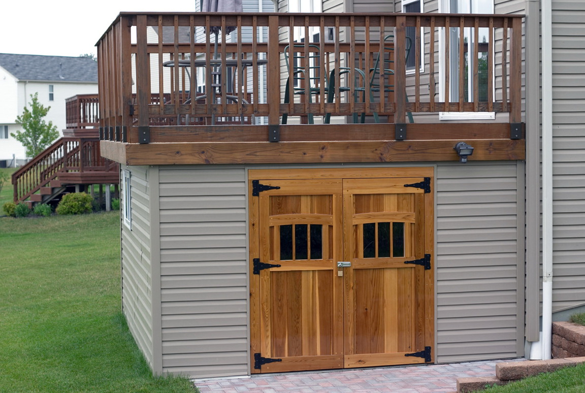 Under Deck Storage Sheds Home Design Ideas