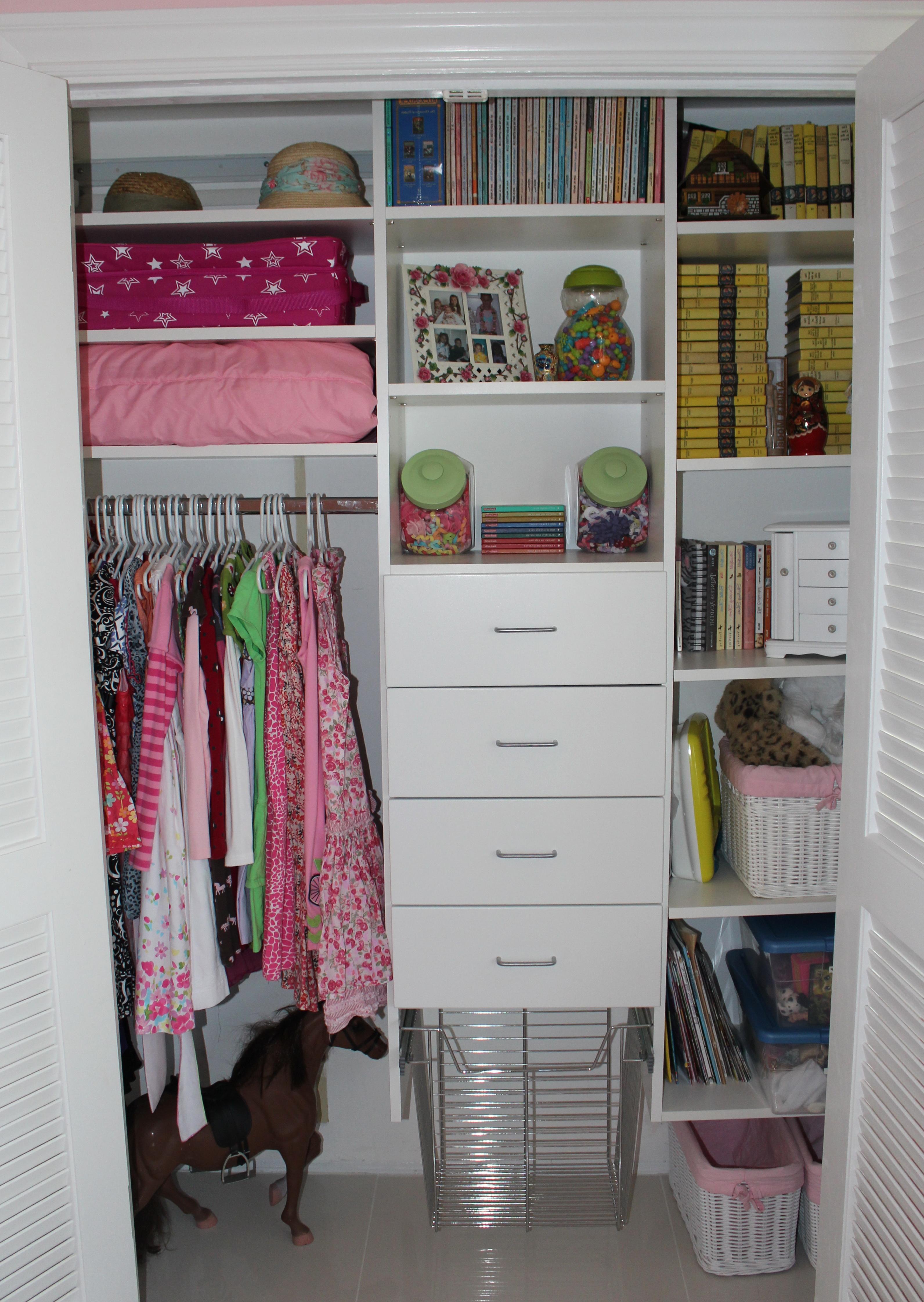 Very small closet organization ideas home design ideas for Small walk in closet organization