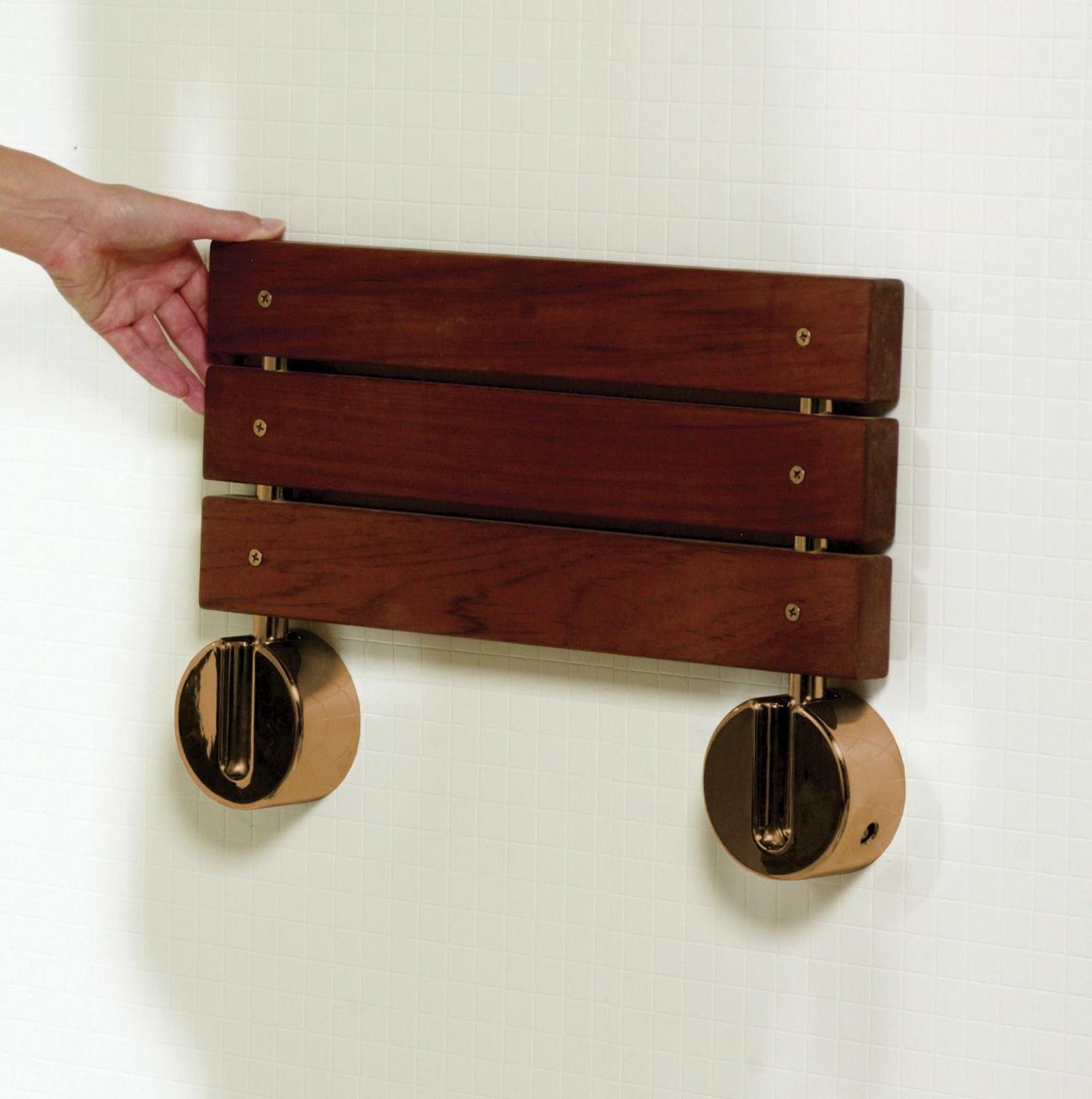 Wall Mounted Teak Shower Bench | Home Design Ideas