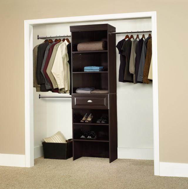 Wood Closet Organizers Kits