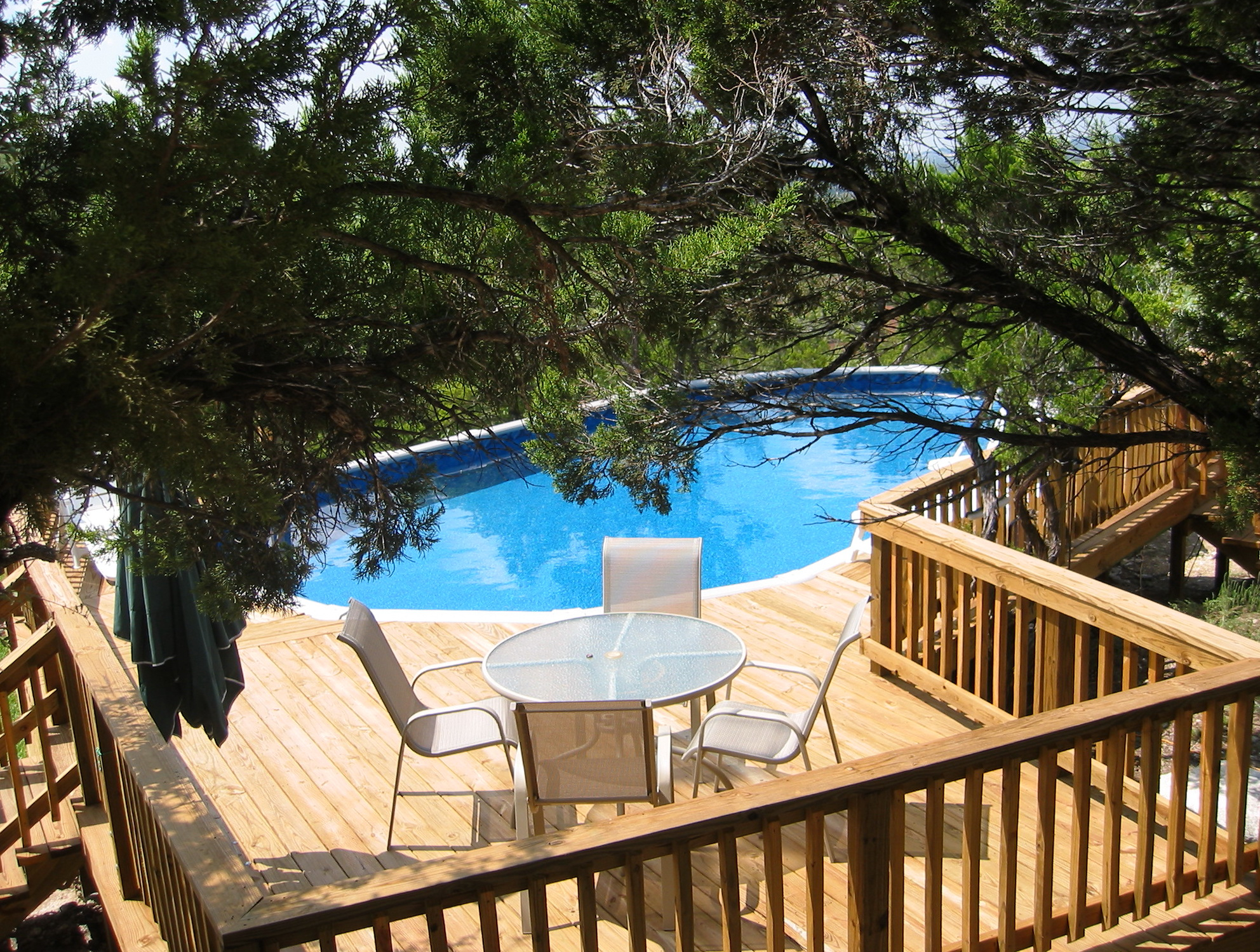 Above ground pools with decks for sale home design ideas for Above ground pool decks nj