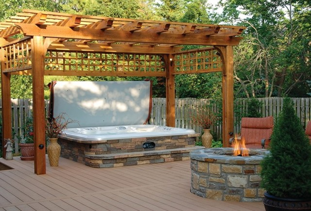 Backyard Composite Deck Designs Home Design Ideas