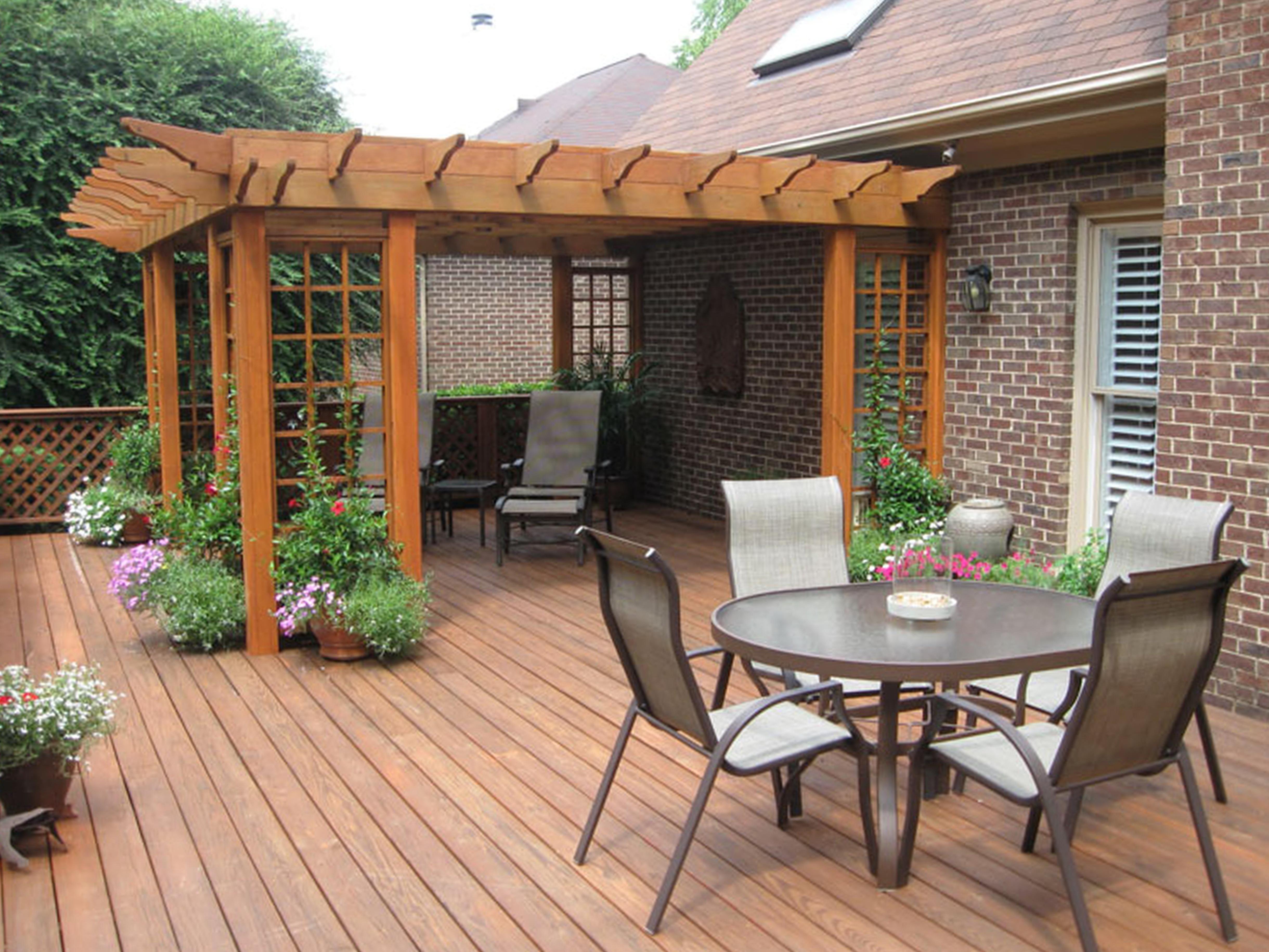 Backyard Wood Deck Designs Home Design Ideas