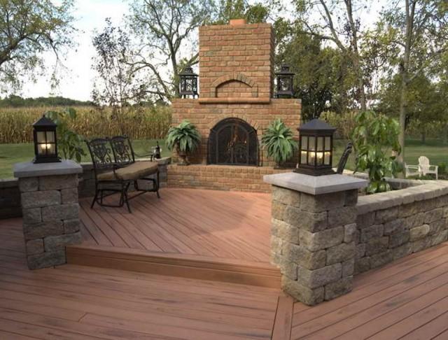 Backyard Wooden Deck Designs