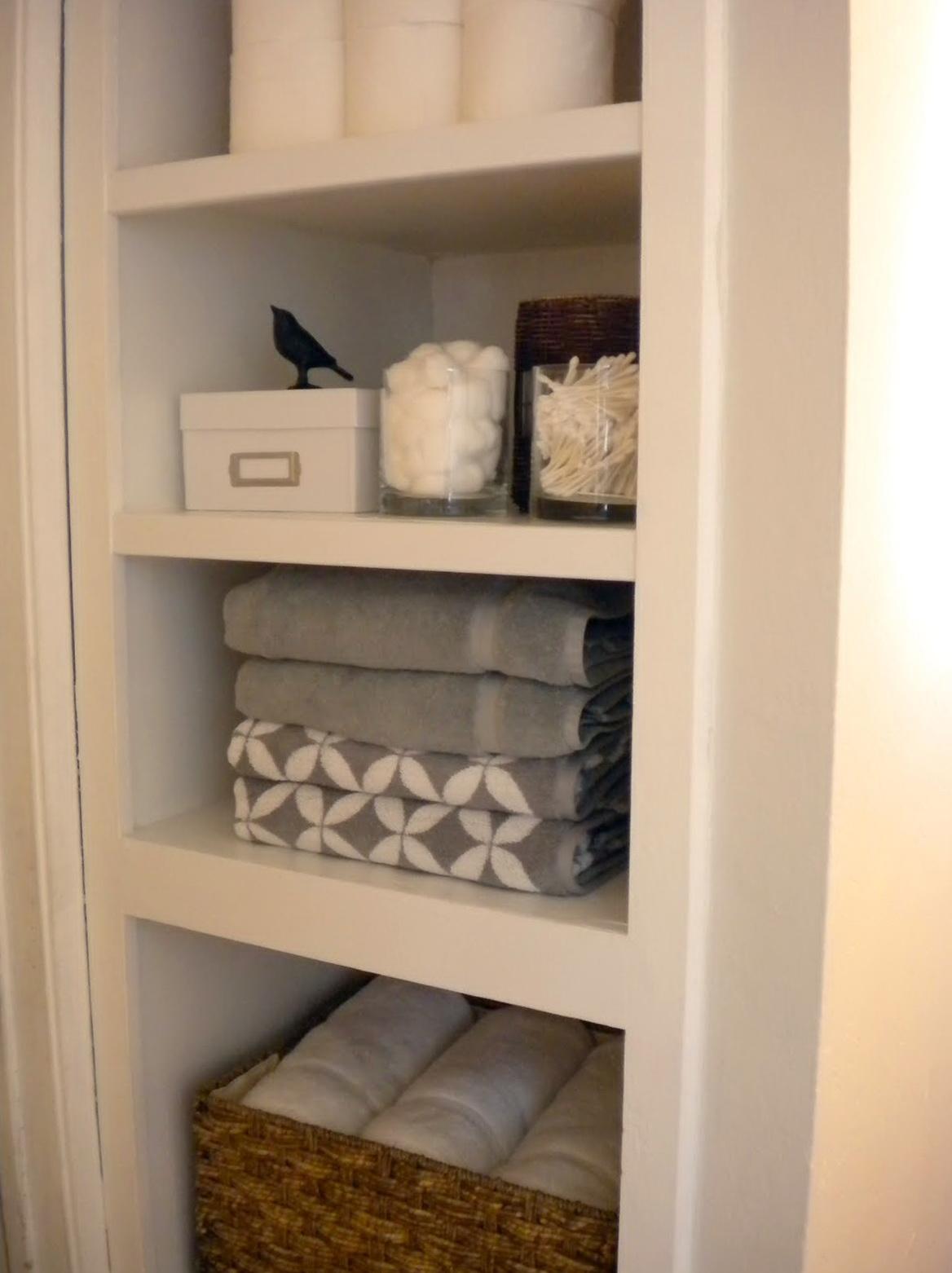 Bathroom Linen Closet Organization