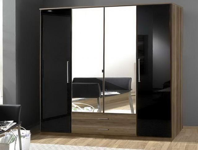 Black Brown Wardrobe Closet