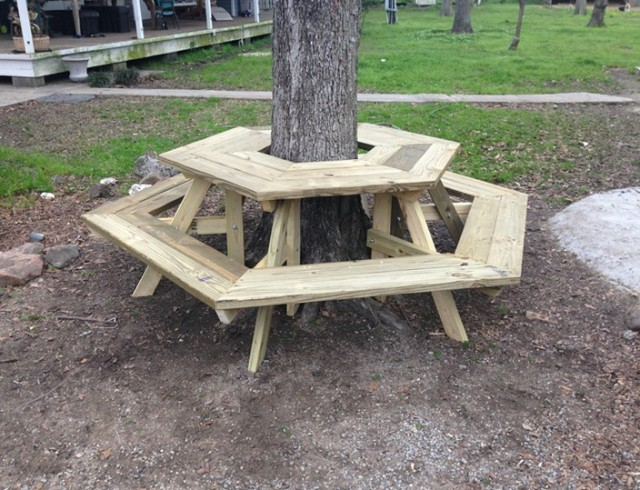 Building A Floating Deck Around A Tree