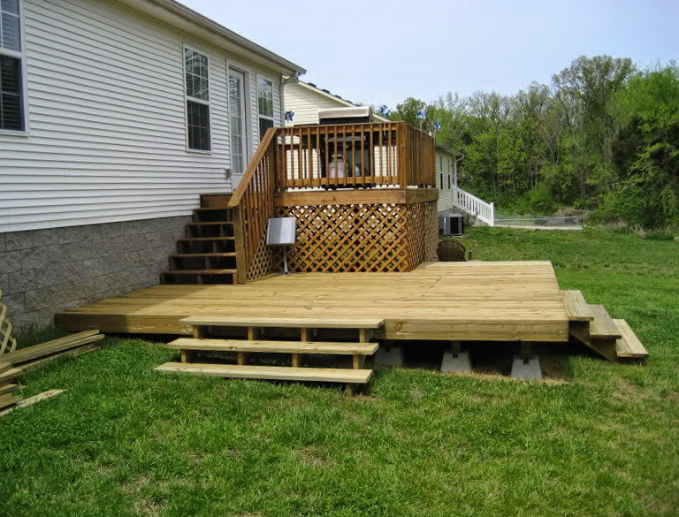 Building A Floating Deck On Uneven Ground Home Design Ideas