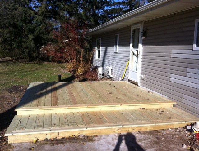 Building a floating deck over concrete slab home design for Building a house on a slab