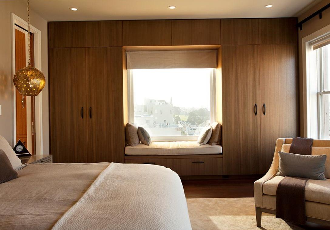 Built In Closets Around Window Home Design Ideas