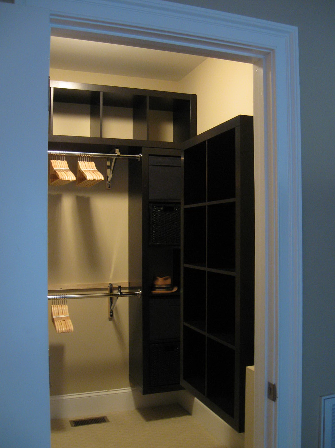 Closet Rod Support Ideas Home Design Ideas