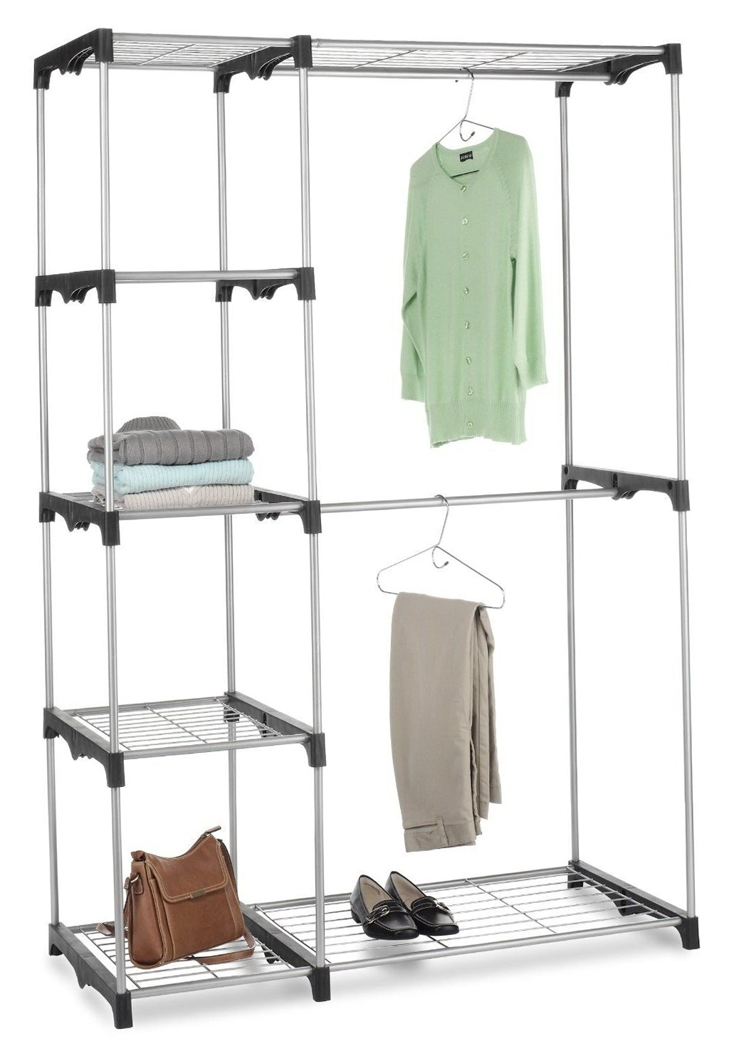 Closet With 2 Hanging Rods