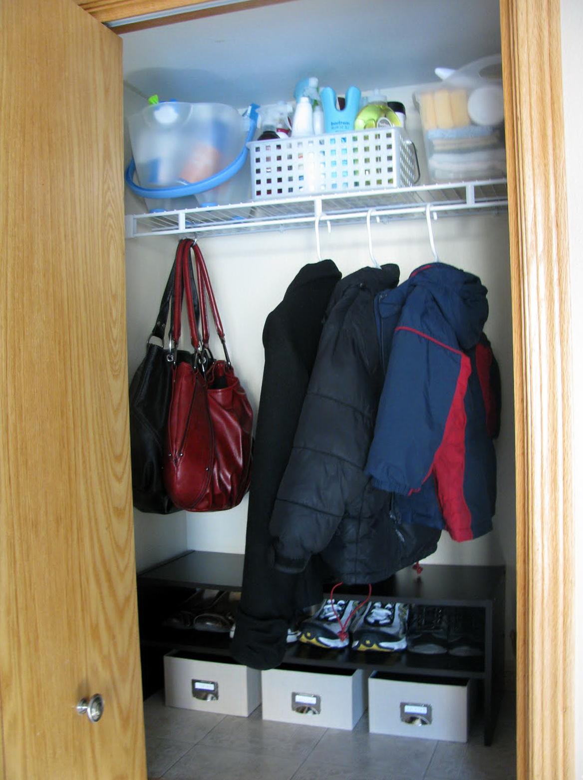 Coat Closet Shoe Storage