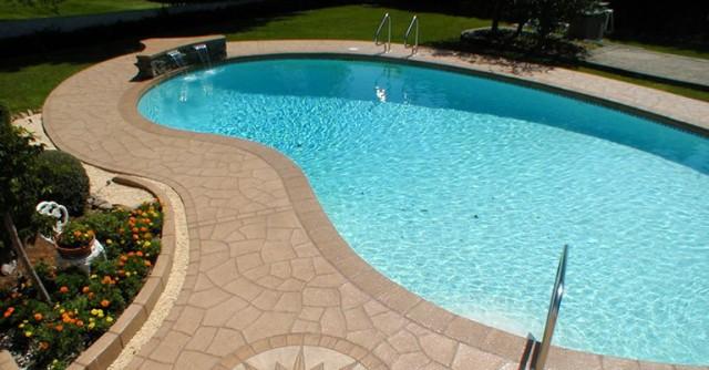 Concrete Pool Deck Paint Ideas