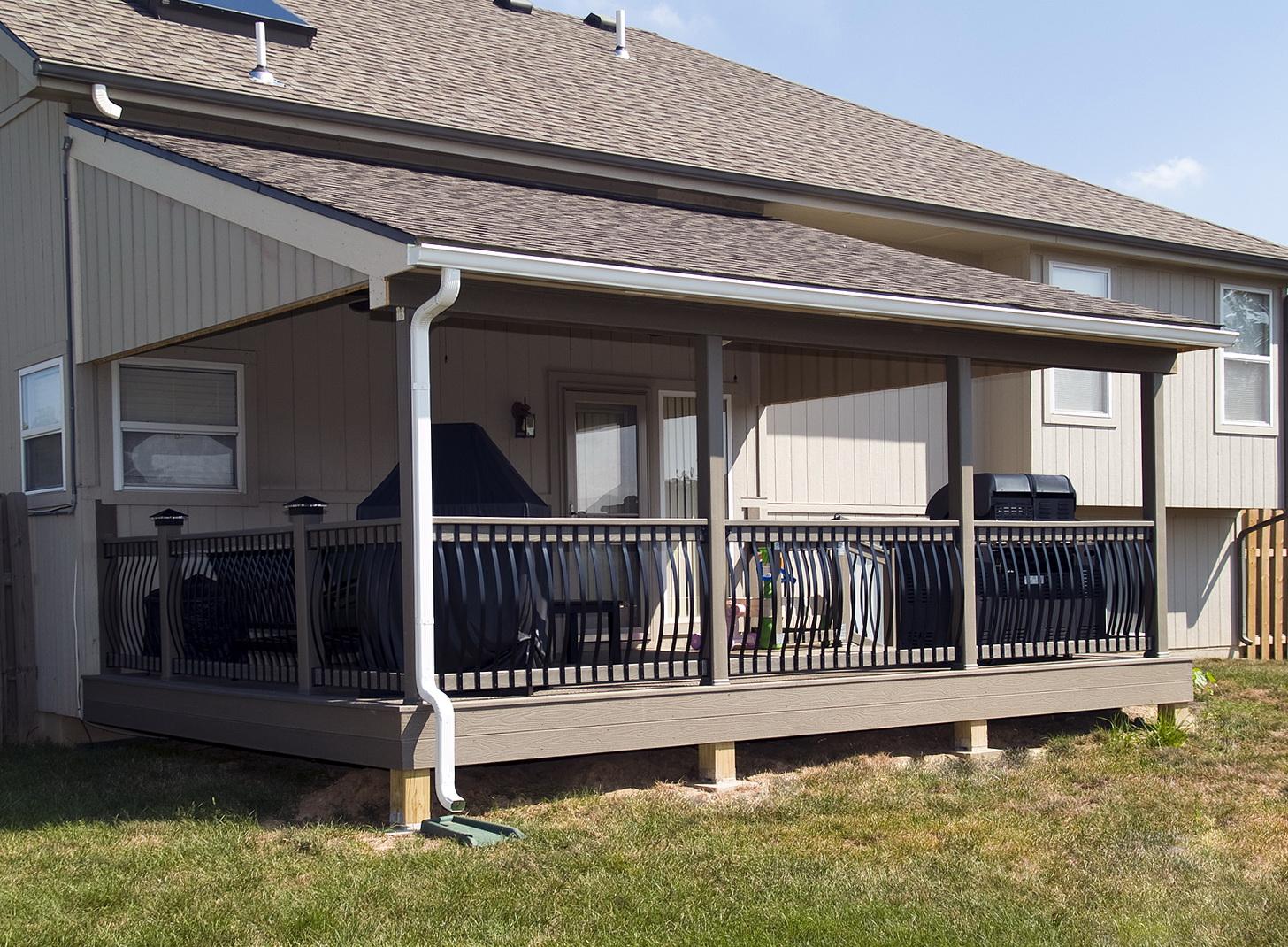 Covered Decks And Porches Home Design Ideas