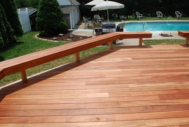 Deck Bench Railing Plans