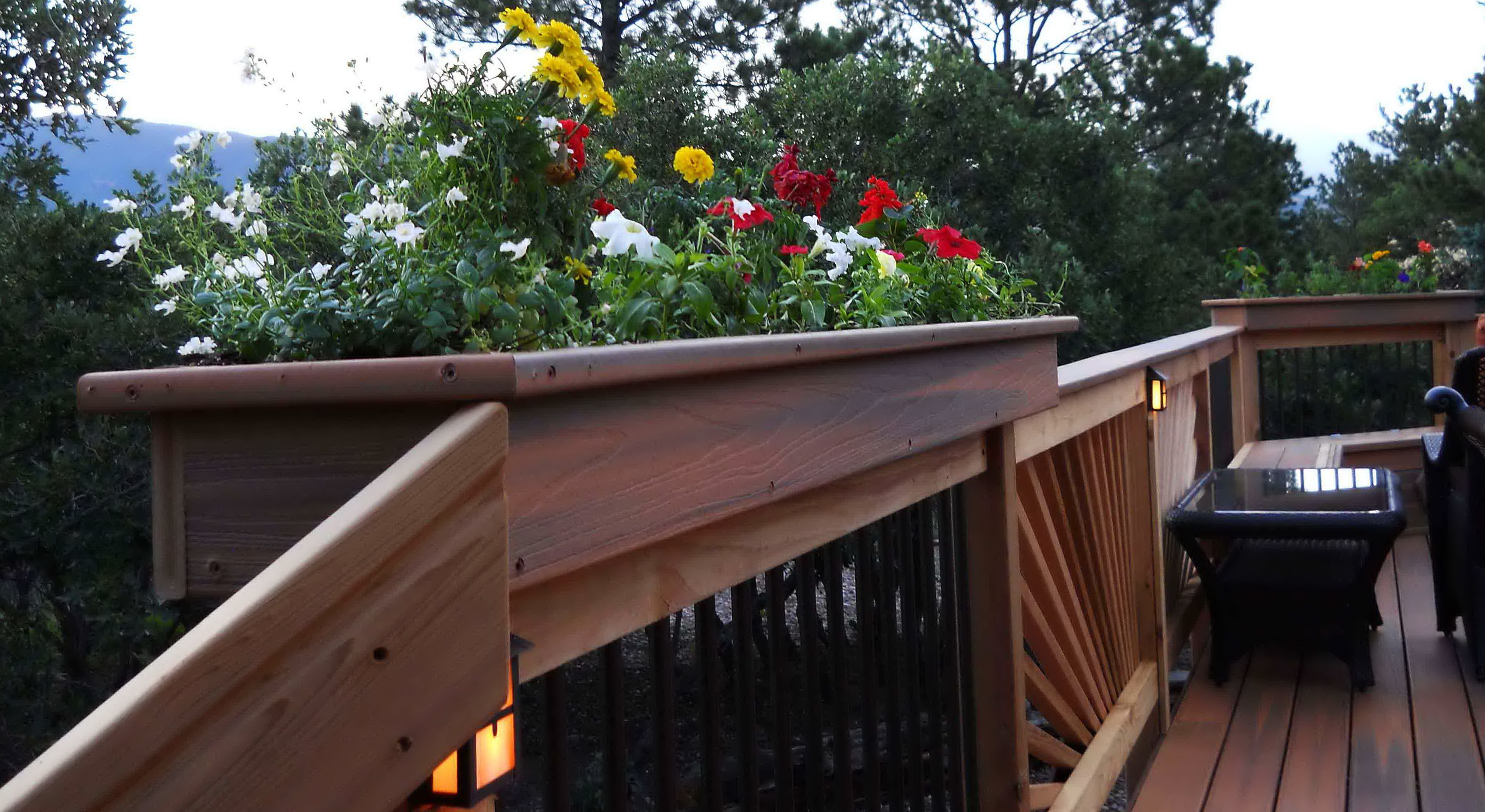 planters patio beautiful of planter amp cascading steps stairs with wide deck down