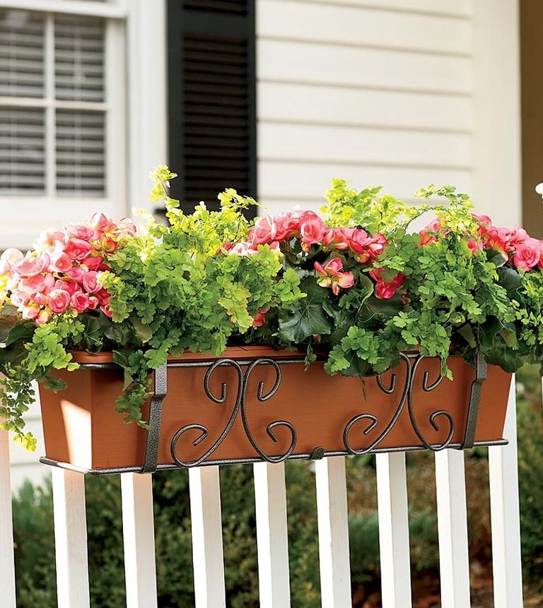 Deck Rail Planters Self Watering Home Design Ideas