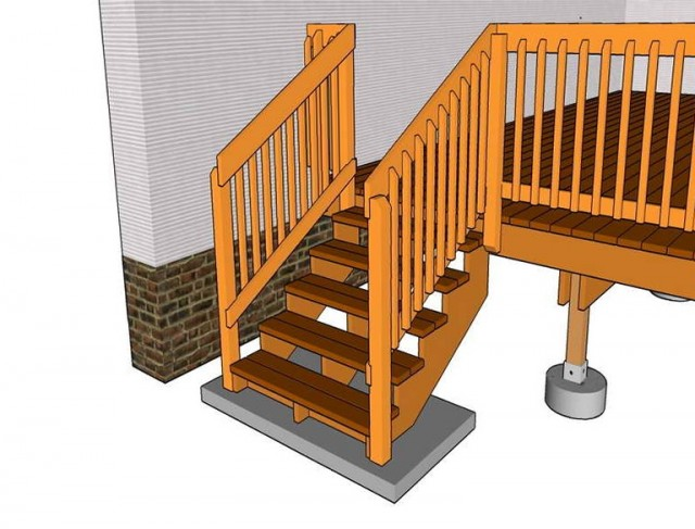 Deck Stair Rail Height