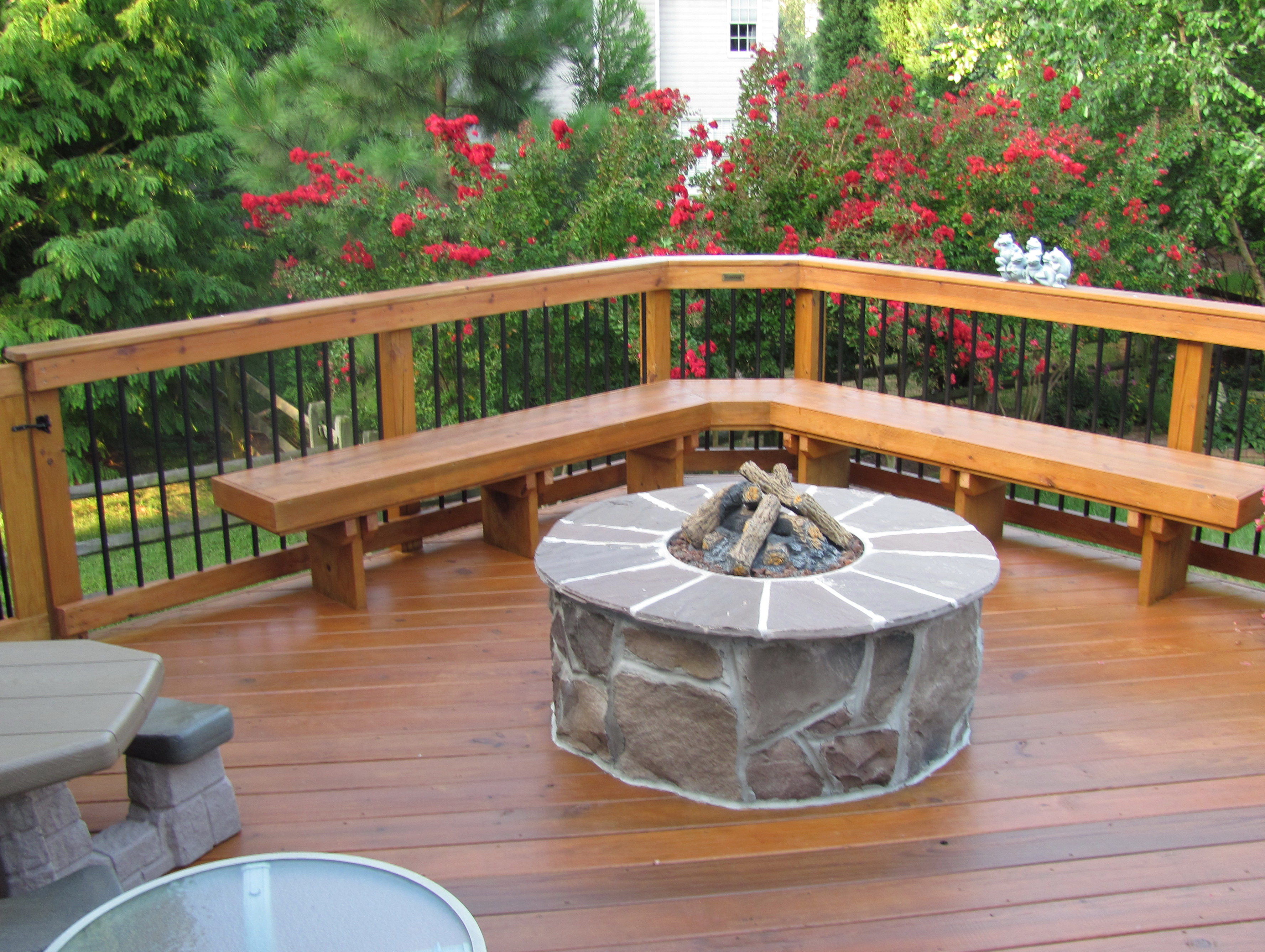 Deck With Fire Pit Ideas Home Design Ideas