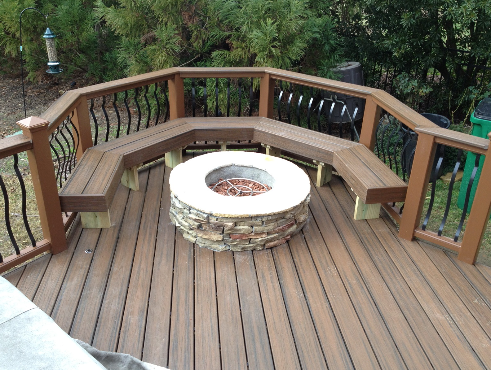 Deck With Fire Pit Plans
