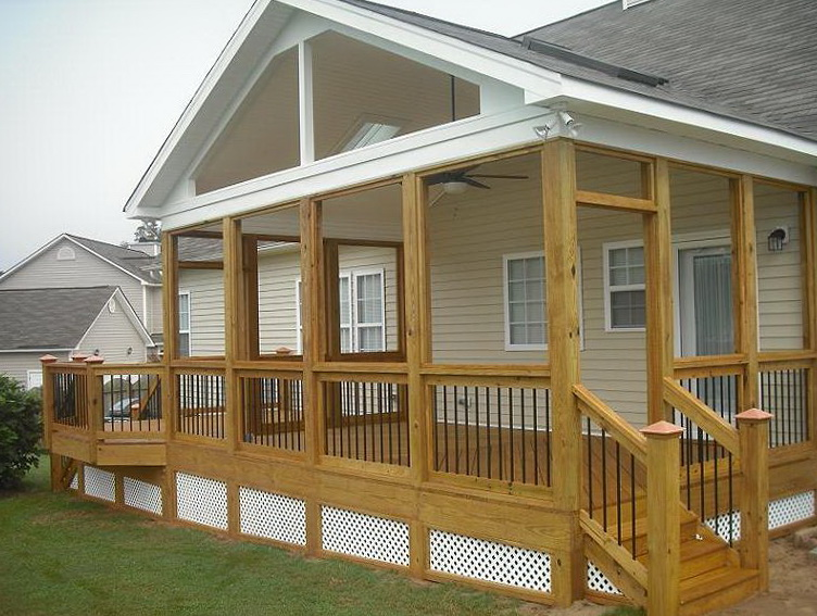 Deck With Gable Roof Home Design Ideas