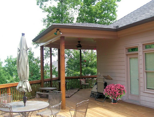 Deck With Partial Roof