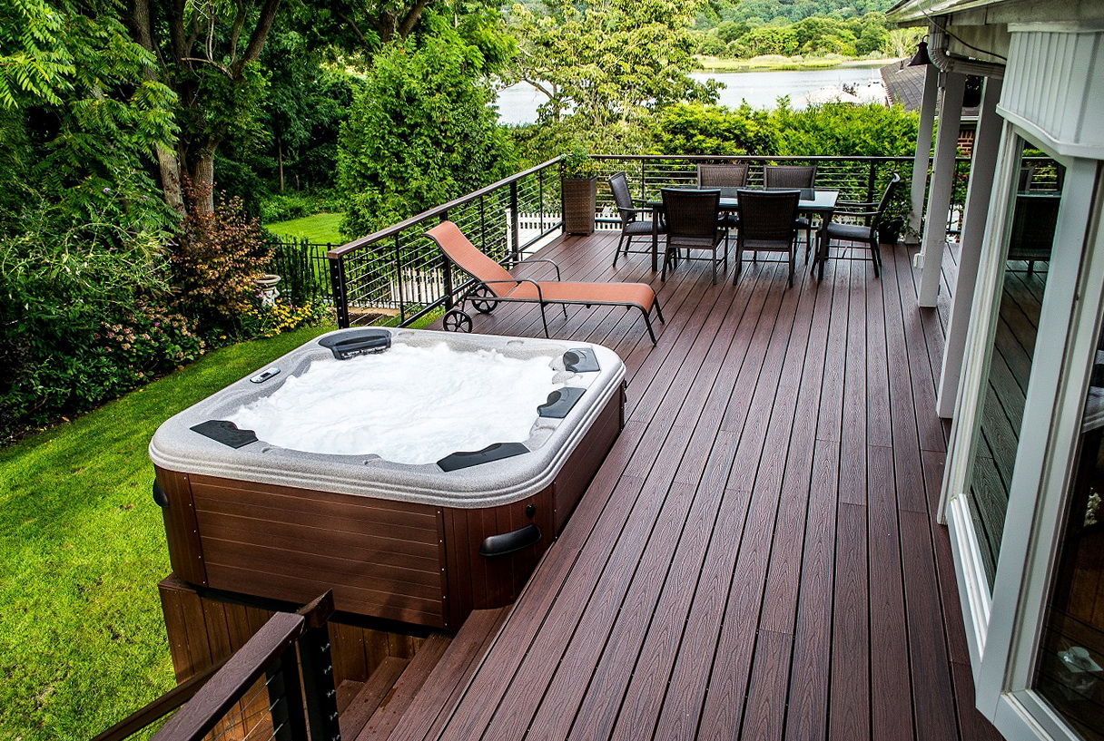 Decks And Patios With Hot Tubs Home Design Ideas