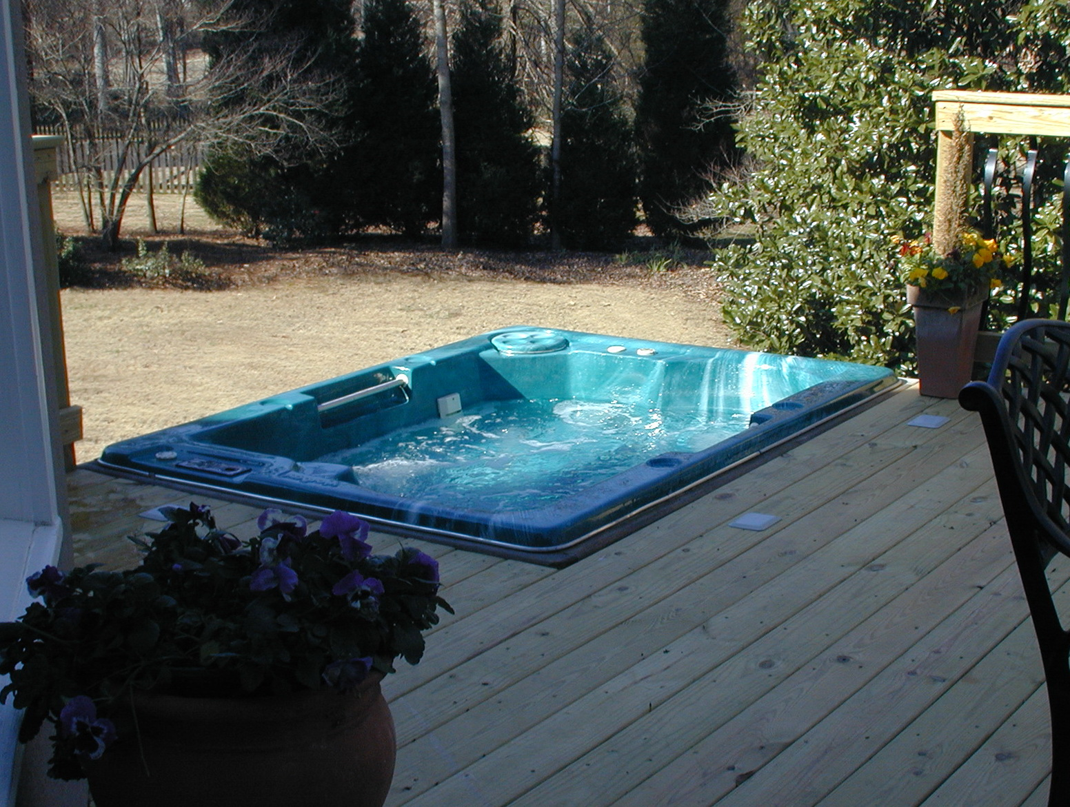 Decks With Sunken Hot Tubs