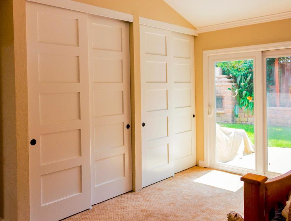 double bifold closet doors home design ideas