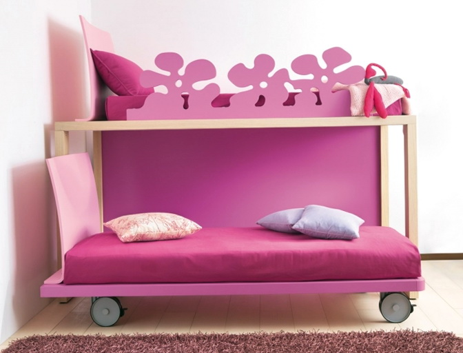 Double Deck Bed For Girls