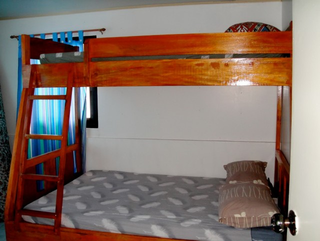 Double Deck Bed With Cabinet