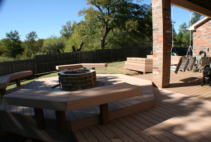 Floating Deck With Fire Pit Home Design Ideas