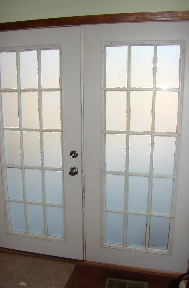French Closet Doors With Frosted Glass