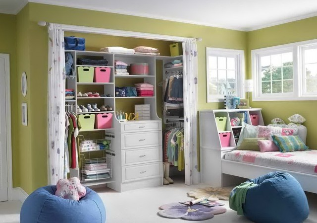 Girls' Bedroom Closet Ideas