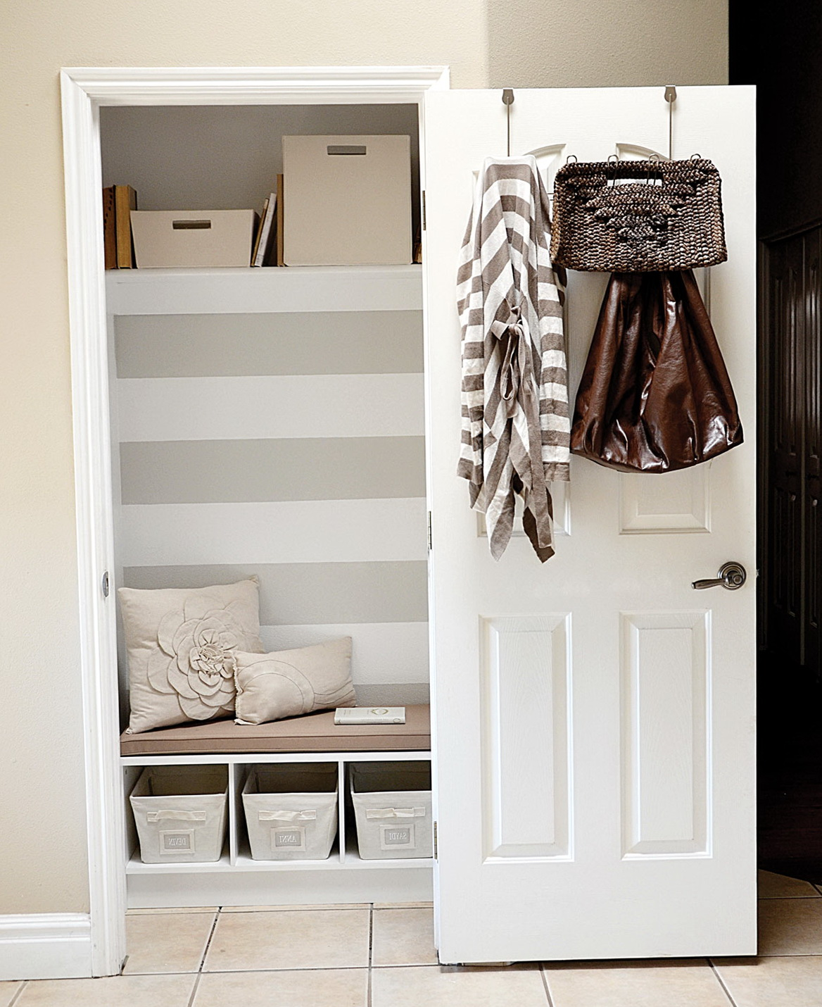 Hall Closet Shoe Storage Home Design Ideas