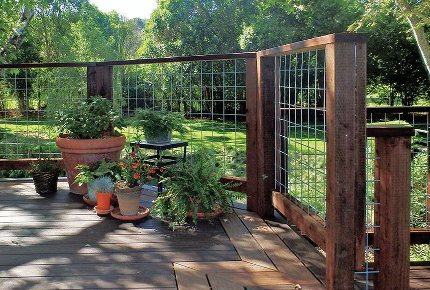 Hog Wire Deck Railing Plans Home Design Ideas