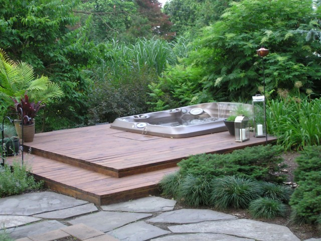 Hot Tub Deck Designs Pictures