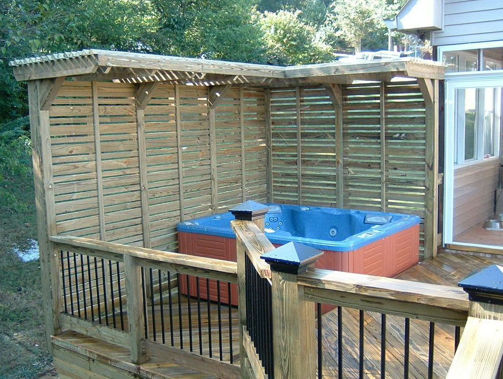 Hot tub deck plans home design ideas for Hot tub deck designs plans