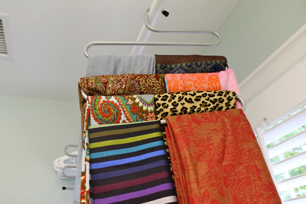 how to organize scarves in your closet home design ideas