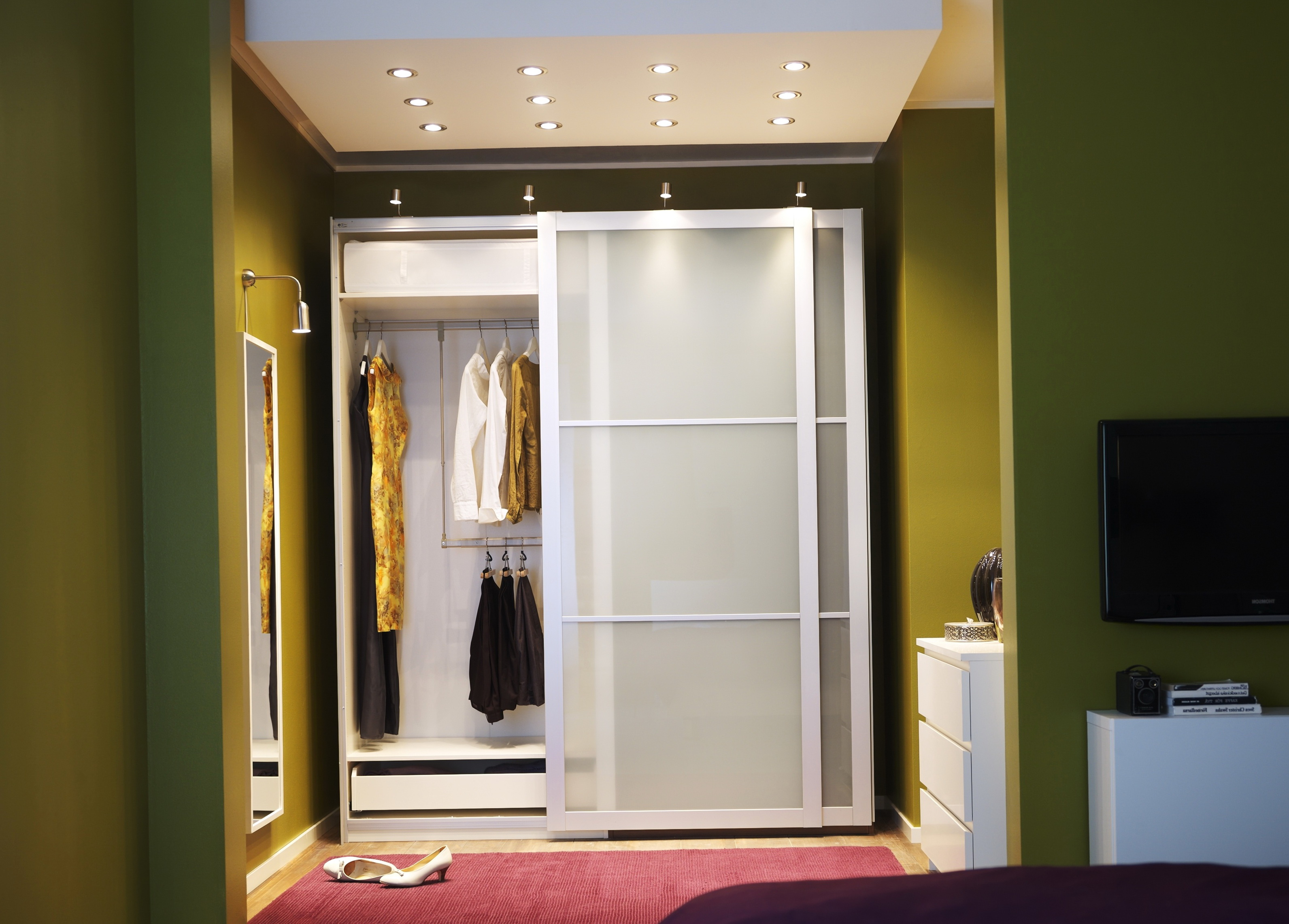 frosted off in white closet doors p x sliding truporte tempered door glass composite lite series