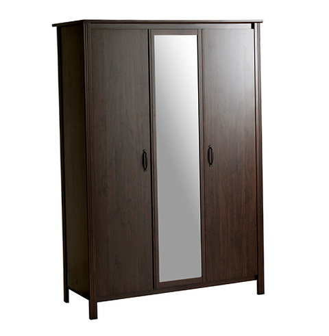 Ikea wardrobe closet with mirror home design ideas - Ikea armoire with mirror ...